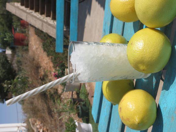 ברד לימון בכוס